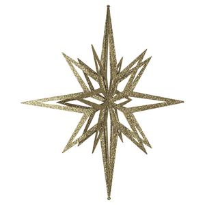 Estrela Dourada Brilhante com Purpurinas, 60 Cm