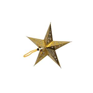 Estrela Dourada Pendurar, 30cm