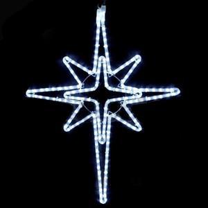 Estrela dupla em cordão Led Branco