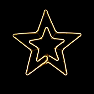 Estrela Dupla LED 54x50cm IP44, Branco Quente