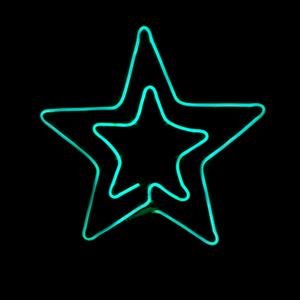 Estrela Dupla LED 54x50cm IP44, Verde