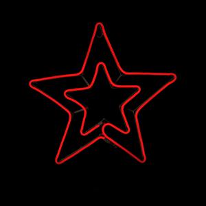 Estrela Dupla LED 54x50cm IP44, Vermelho