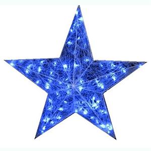 Estrela em Malha Azul