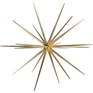 Estrela Espigões Dourada, 60 cm