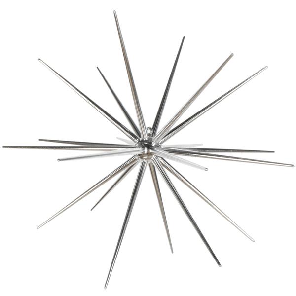 Estrela Espigões Prateada, 60 cm