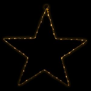 Estrela Luminosa Leds Branco Quente, 50 Cm