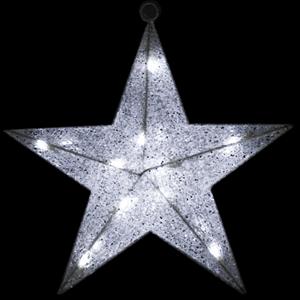 Estrela Malha Luminosa Leds Branco Frio, 40 Cm