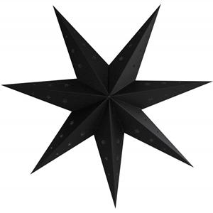 Estrela Natal Preta em Cartão, 70cm