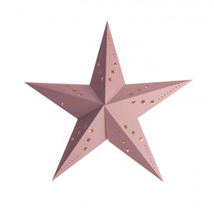 Estrela Natal Rosa Pastel em Cartão, 60cm