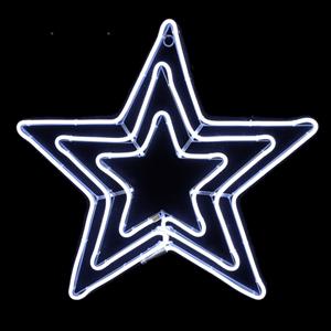 Estrela Tripla LED Branco Frio 63x60cm IP44