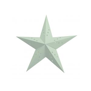 Estrela Natal Verde Pastel em Cartão, 30Cm
