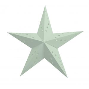 Estrela Natal Verde Pastel em Cartão, 60Cm