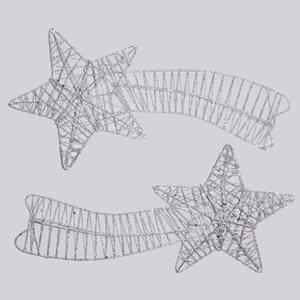 Estrelas Cadentes Prata, 27 cm