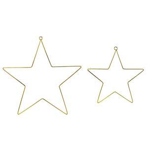Estrelas Decorativas em Metal, 2 unid.