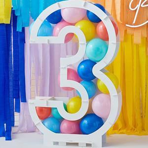 Estrutura Número 3 para Balões