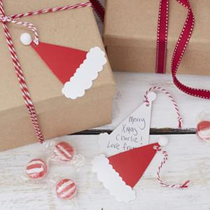 Etiqueta Gorros de Natal para Presentes, 9 unid.