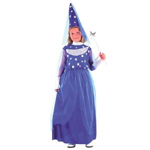 Fato Fada Madrinha Azul com Estrelas, Criança