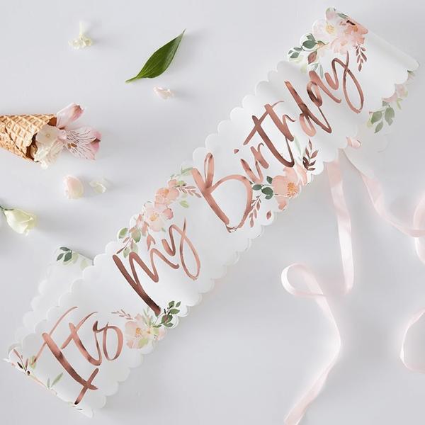 Faixa It´s My Birthday Floral