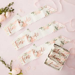 Faixa Team Bride Floral