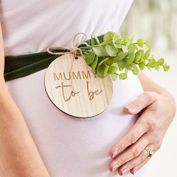 Faixa Verde com Folhas Mummy To Be