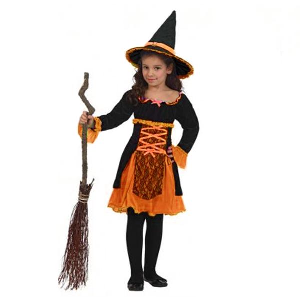 Fato Bruxa Laranja, criança