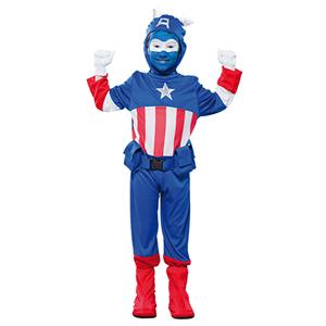Fato Capitão América Azul, criança