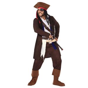 Fato Capitão Pirata, Adulto