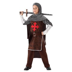Fato Cavaleiro Medieval Cruzado, Criança