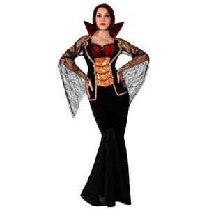 Fato Condessa Vampira Comprido