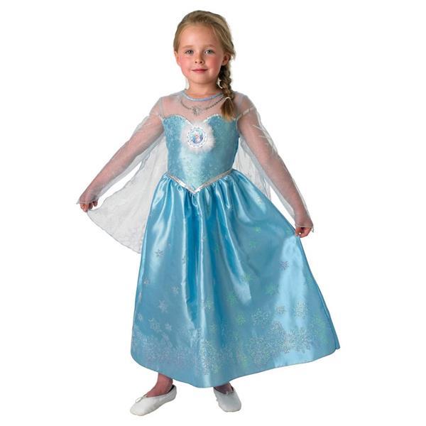 Fato Elsa Deluxe Princesa do Gelo Frozen, Criança
