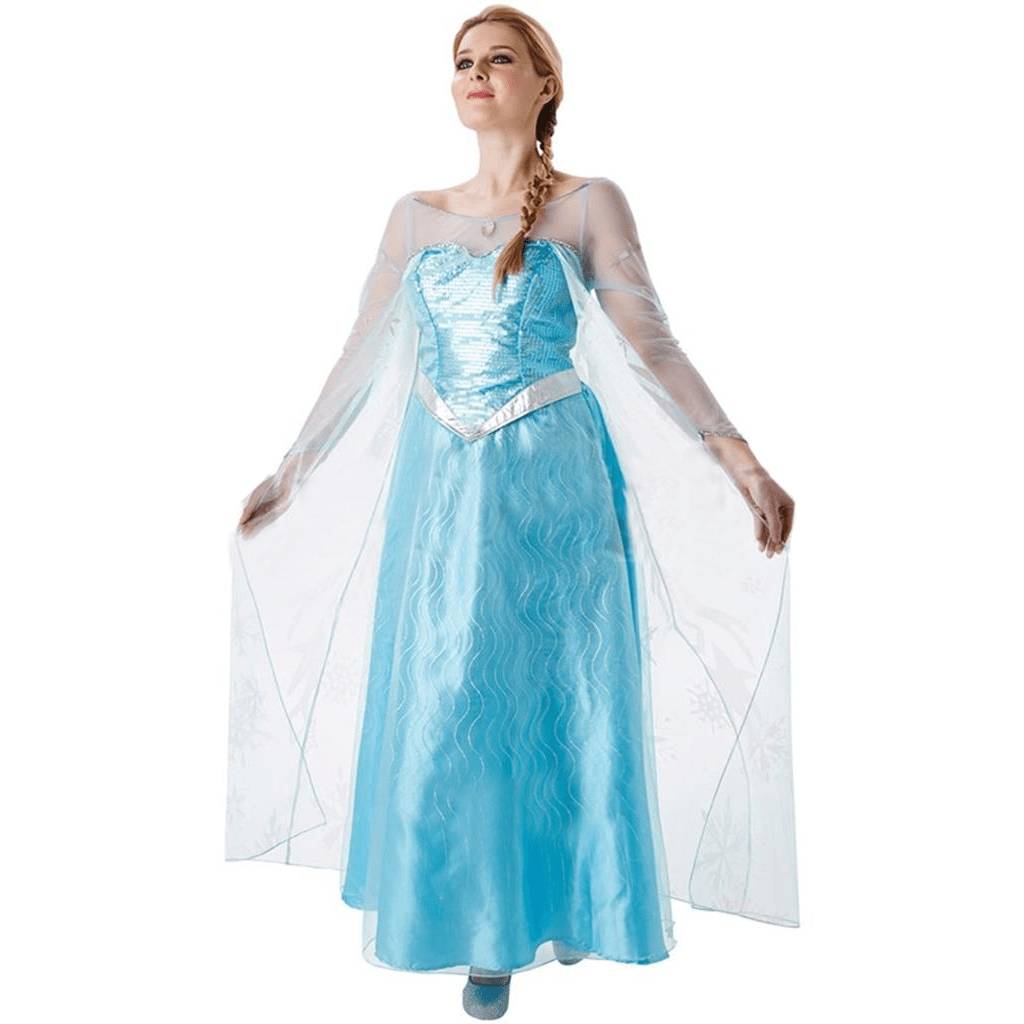Fato Elsa Princesa Do Gelo