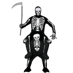 Fato Esqueleto Carry Me, Adulto