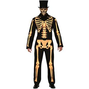 Fato Esqueleto Elegante, Adulto