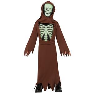 Fato Esqueleto Glow, Criança