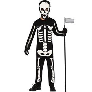 Fato Esqueleto Halloween, Criança