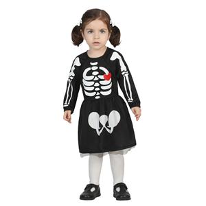 Fato Esqueleto Menina Bébe