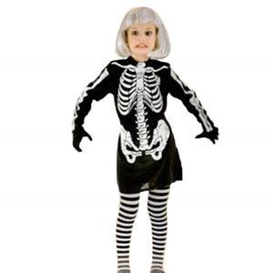 Fato Esqueleto Menina, criança