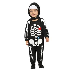 Fato Esqueleto Menino Bebé