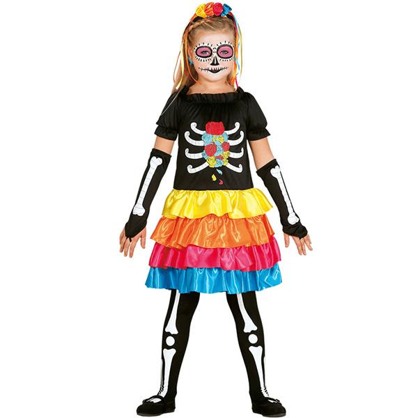 Fato Esqueleto Mexicana Colorida