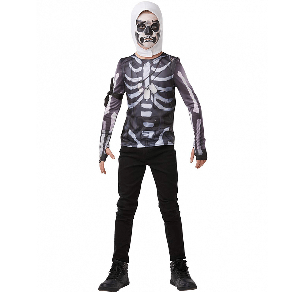 Fato Fortnite T-Shirt Skulltropper, Criança