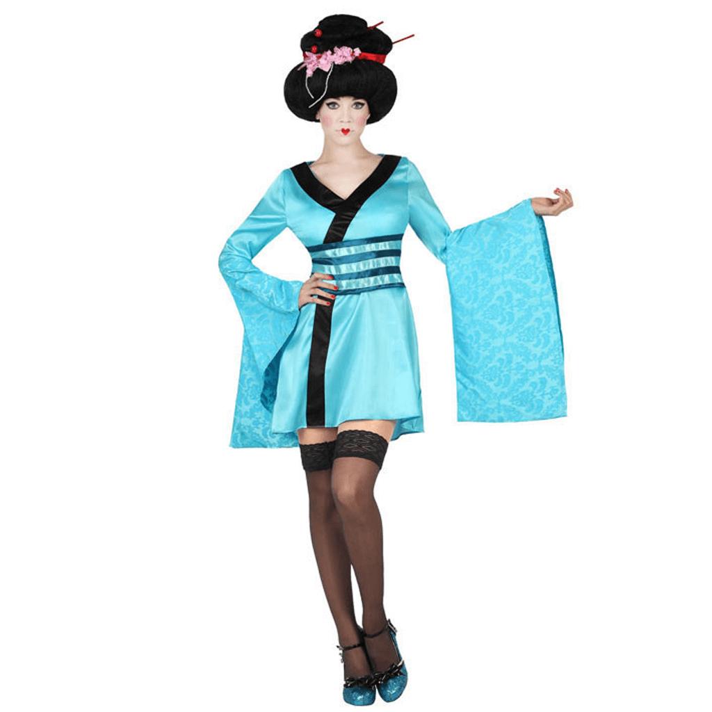 Fato Geisha Azul, Adulto