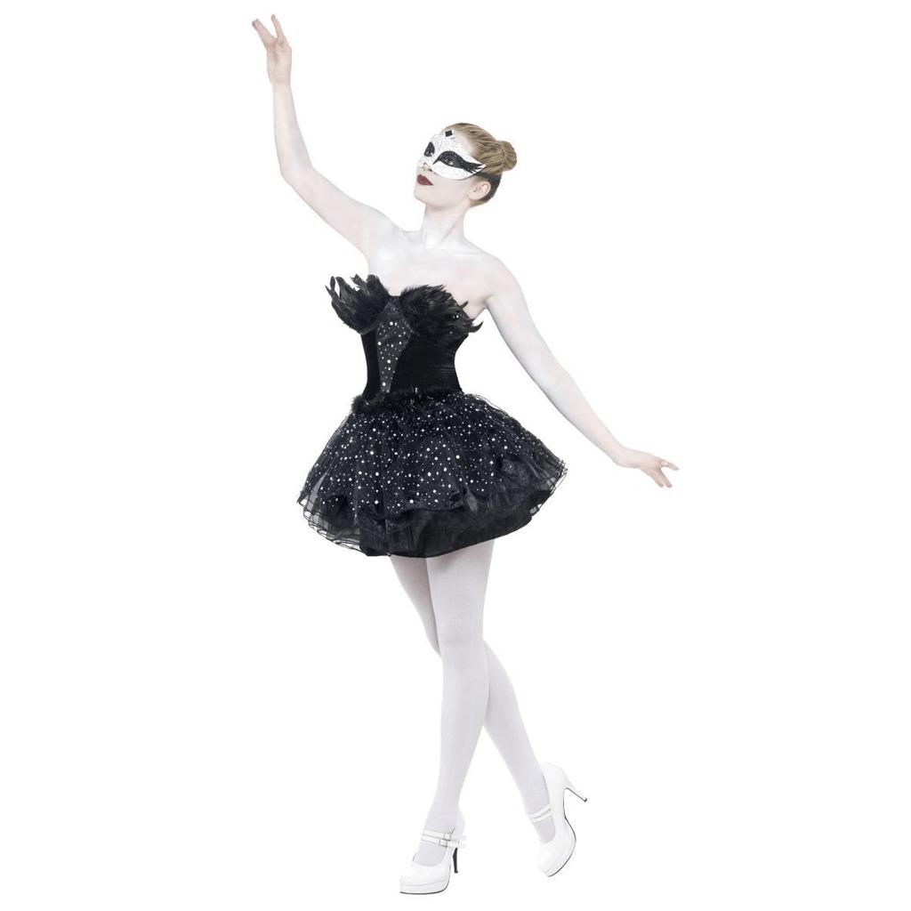 Fato Halloween Cisne Negro Deluxe, Adulto