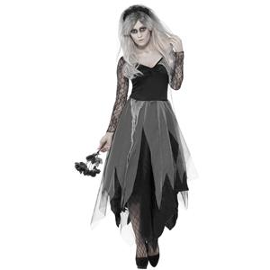Fato Halloween Noiva do Cemitério, Adulto