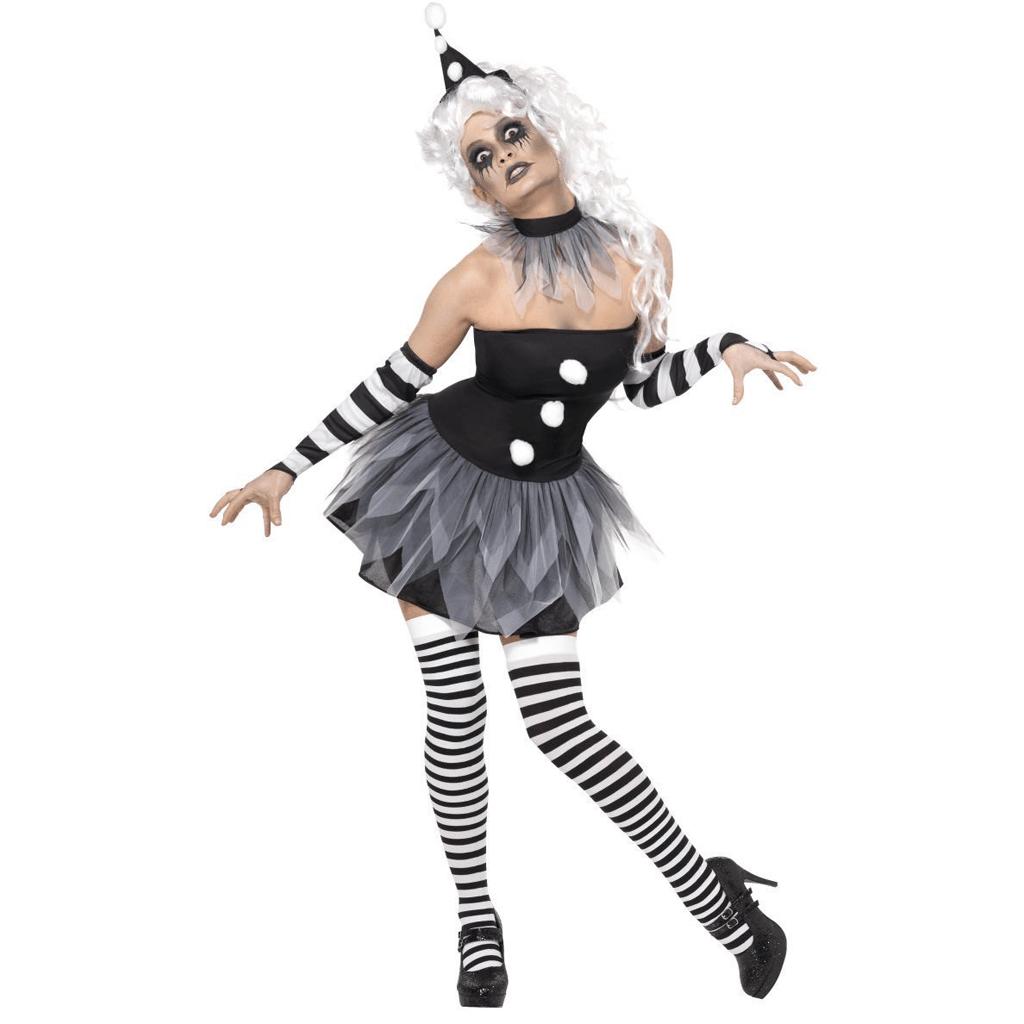 Fato Halloween Pierrot Sinistro, Adulto