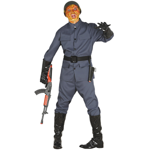 Fato Halloween Soldado Guerra Civil, Adulto