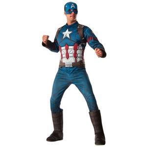 Fato Herói Capitão América Clássico, Adulto