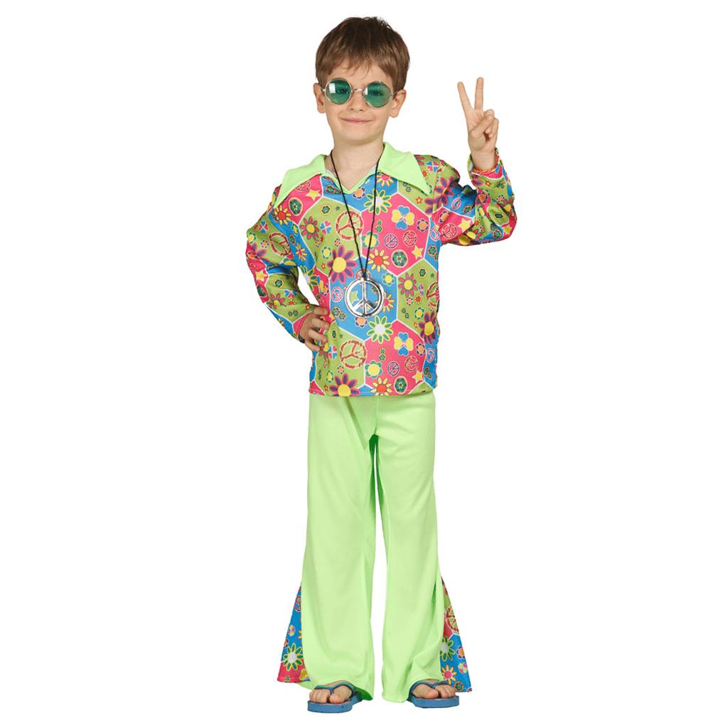 Fato Hippie com Flores, criança