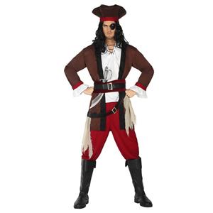 Fato Homem Pirata Castanho