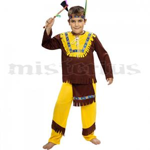 Fato Indio Castanho e Amarelo, criança