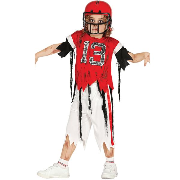 Fato Jogador Rugby Zombie, Criança